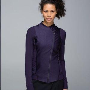 Lululemon Purple Asymmetric Zip Jacket Size 6